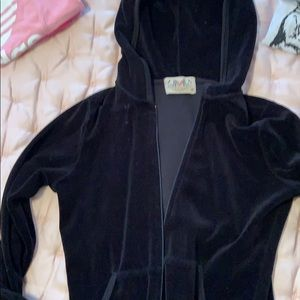 Juicy couture velour sweat shirt hoodie